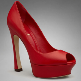 Yves Saint Laurent Palais Peep-Toe Pump