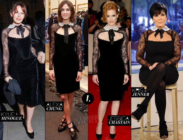 Kylie Minogue, Alexa Chung, Jessica Chastain & Kris Jenner in Emilio Pucci