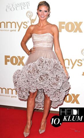 Heidi Klum in Christian Siriano | 2011 Primetime Emmy Awards
