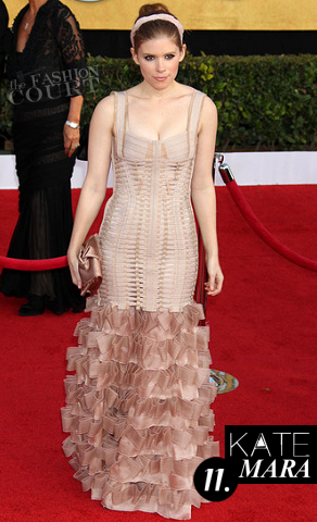 Kate Mara in Herve Leger | 2011 Screen Actor's Guild Awards