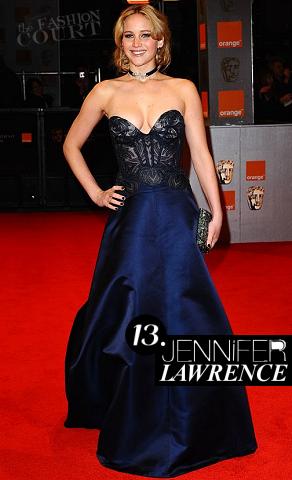 Jennifer Lawrence in Stella McCartney | 2011 BAFTA Awards