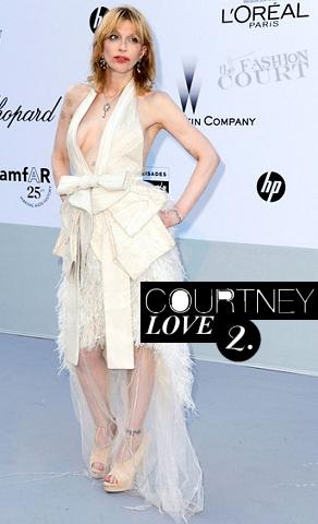 Courtney Love in Givenchy | amfAR's Cinema Against AIDS Gala