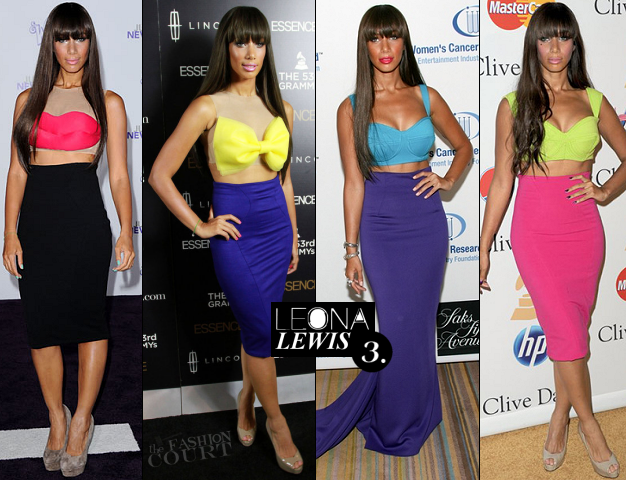 Leona Lewis in her own designs...