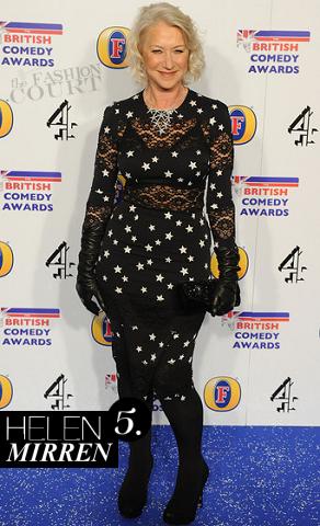 Helen Mirren in Dolce & Gabbana | 2011 British Comedy Awards