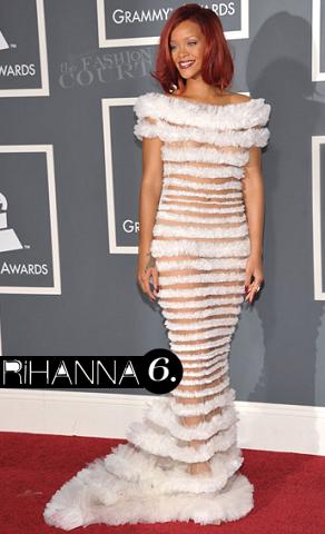 Rihanna in Jean Paul Gaultier | 2011 Grammy Awards