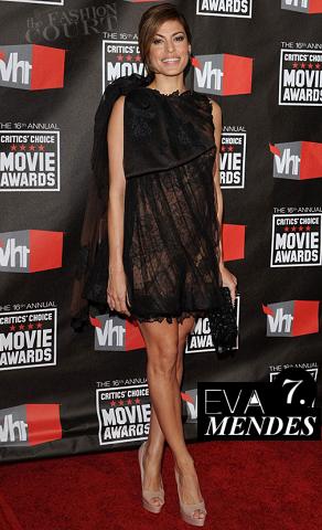 Eva Mendes in Valentino | 2011 Critics' Choice Movie Awards
