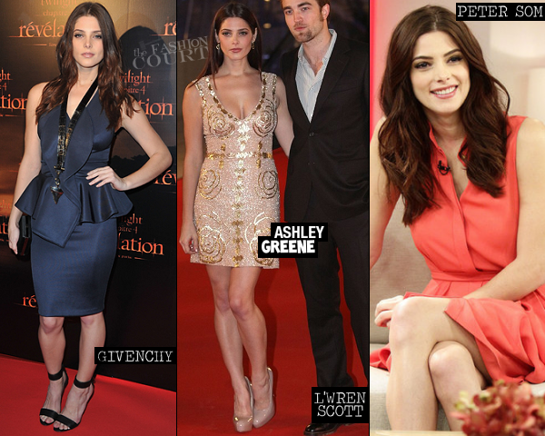 Ashley Greene in Givenchy, L'Wren Scott & Peter Som