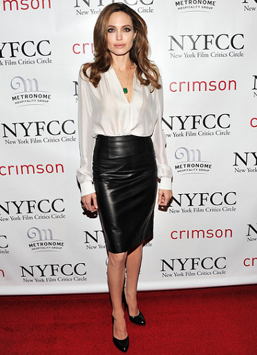 Angelina Jolie in Salvatore Ferragamo | 2011 New York Film Critics Circle Awards