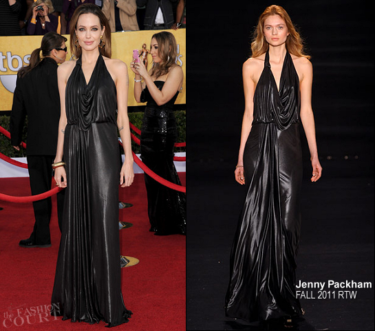Angelina Jolie in Jenny Packham | 2012 Screen Actors Guild Awards
