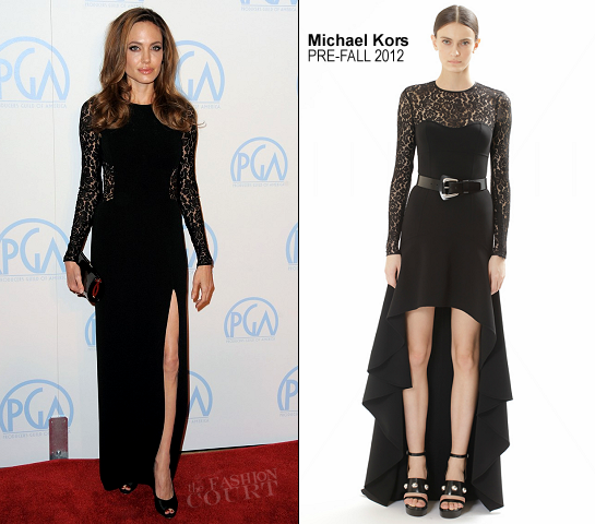 Angelina Jolie in Michael Kors | 23rd Annual Producers Guild Awards