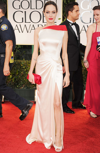 Angelina Jolie in Atelier Versace | 69th Annual Golden Globe Awards