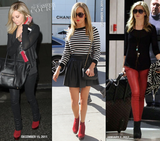 Ashley Tisdale Rocks The JAVA Boots by Alice + Olivia!