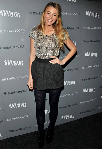 Blake Lively in Dolce & Gabbana | 'Haywire' NYC Screening