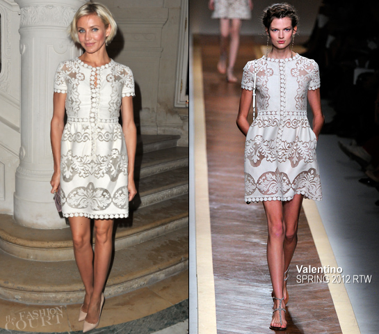 Cameron Diaz in Valentino | Paris Haute Couture Fashion Week – Spring 2012: Valentino Show