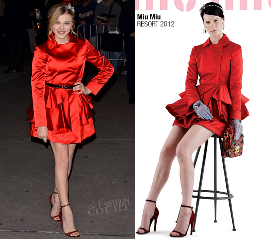 Chloe Moretz in Miu Miu | 2011 National Board of Review Awards