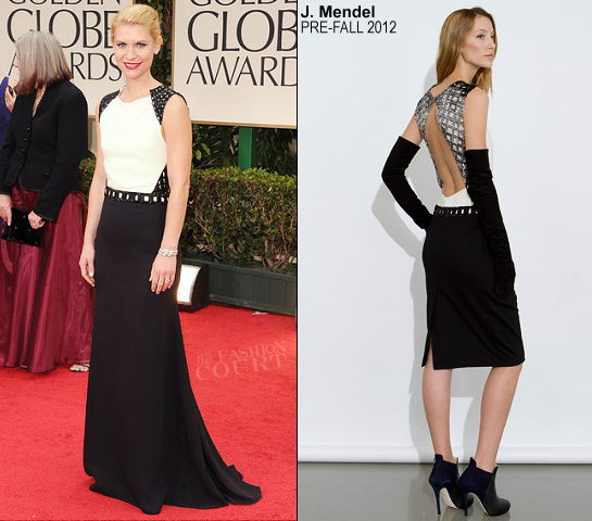 Claire Danes in J. Mendel Couture | 69th Annual Golden Globe Awards