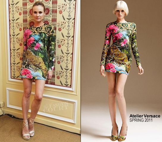 Diane Kruger in Atelier Versace | Versace Etoile De La Mer Eyewear Launch Party