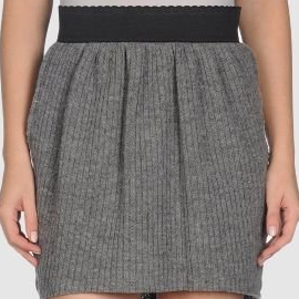 Dolce & Gabbana Knit Mini Skirt with Banded Waist