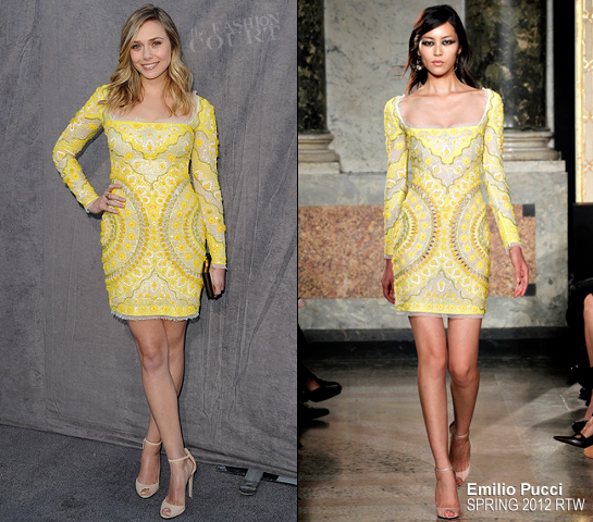 Elizabeth Olsen in Emilio Pucci | 2012 Critics' Choice Movie Awards