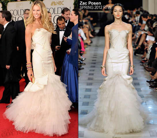Elle Macpherson in Zac Posen | 69th Annual Golden Globe Awards