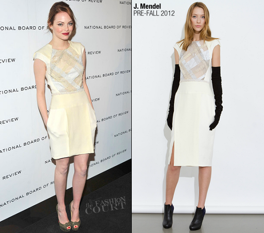 Emma Stone in J. Mendel | 2011 National Board of Review Awards