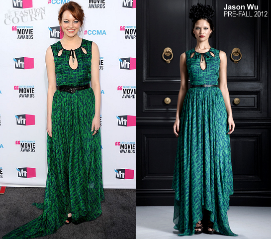 Emma Stone in Jason Wu | 2012 Critics' Choice Movie Awards