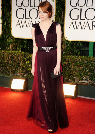 Emma Stone in Lanvin | 69th Annual Golden Globe Awards
