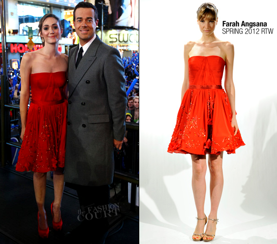 Emmy Rossum in Farah Angsana | New Year's Eve 2012 With Carson Daly