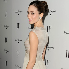 Emmy Rossum in Georges Hobeika | W Magazine's 69th Annual Golden Globes Award Celebration