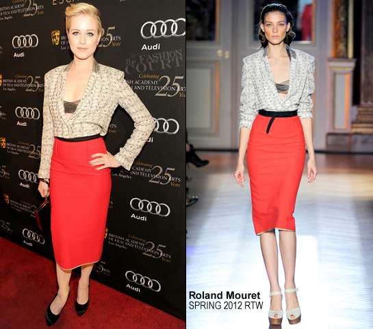Evan Rachel Wood in Roland Mouret | BAFTA Los Angeles' 18th Annual Awards Season Tea Party