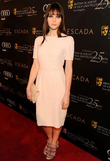 Felicity Jones in Dolce & Gabbana | BAFTA Los Angeles' 18th Annual Awards Season Tea Party