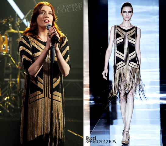 Florence Welch in Gucci | Dick Clark's New Year's Rockin' Eve 2012 with Ryan Seacrest