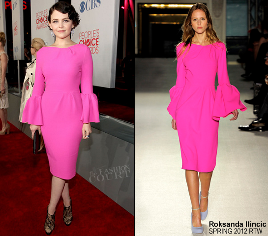 Ginnifer Goodwin in Roksanda Ilincic | 2012 People's Choice Awards