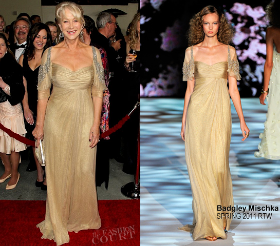 Helen Mirren in Badgley Mischka | 2012 Directors Guild Of America Awards