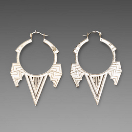 House of Harlow 1960 FIVE STATION CHEVRON Earrings