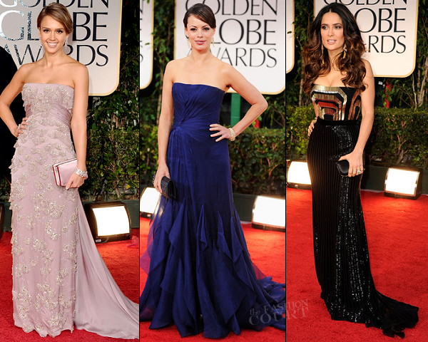 Jessica Alba, Salma Hayek & Berenice Bejo in Gucci Première | 69th Annual Golden Globe Awards