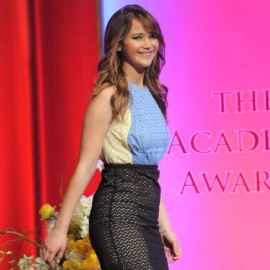 Jennifer Lawrence in Prada | 84th Academy Awards Nominations Announcement
