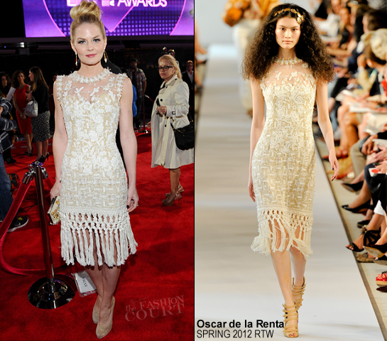 Jennifer Morrison in Oscar de la Renta | 2012 People's Choice Awards