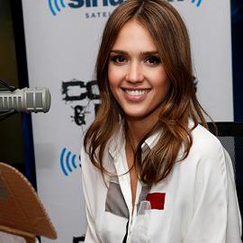 Jessica Alba in Carolina Herrera | Visiting SiriusXM Studios