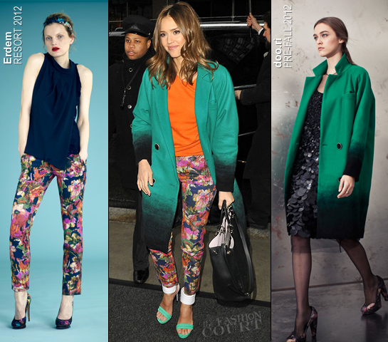 Jessica Alba in Erdem, Doo.Ri & ACNE | 'Live with Kelly!'