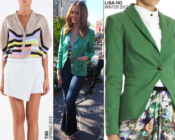 Jessica Alba in Tibi & Lisa Ho | 'Extra' with Mario Lopez