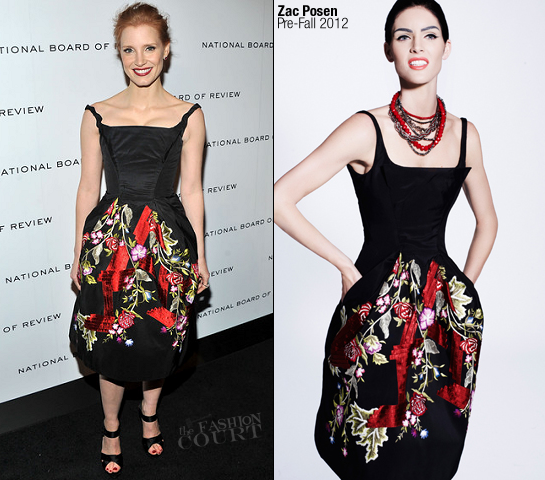 Jessica Chastain in Zac Posen | 2011 National Board of Review Awards