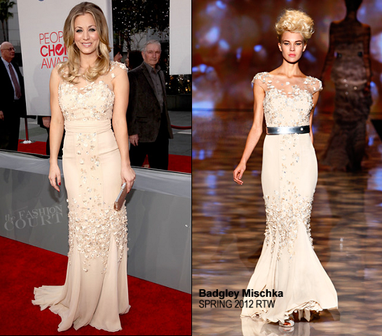 Kaley Cuoco in Badgley Mischka | 2012 People's Choice Awards