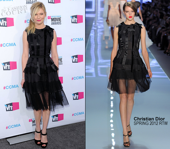 Kirsten Dunst in Christian Dior | 2012 Critics' Choice Movie Awards