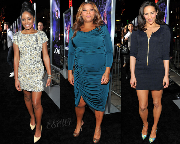 Keke Palmer in Plein Sud, Queen Latifah in David Meister & Paula Patton in Sandro | 'Joyful Noise' LA Premiere