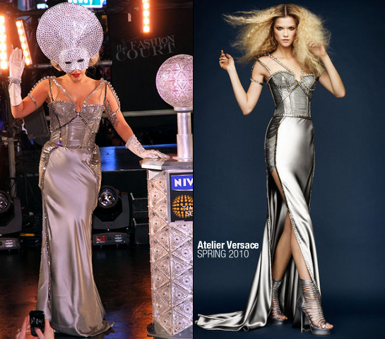 Lady Gaga in Atelier Versace | New Year's Eve 2012 In Times Square