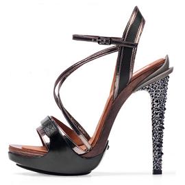 Lanvin Opanca Crystal Embellished Platform Sandals