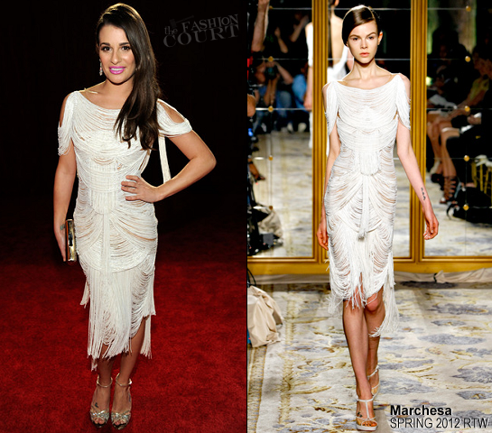 Lea Michele in Marchesa | 2012 People's Choice Awards