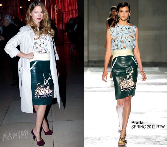 Lea Seydoux in Prada | Prada's 24H Museum Party