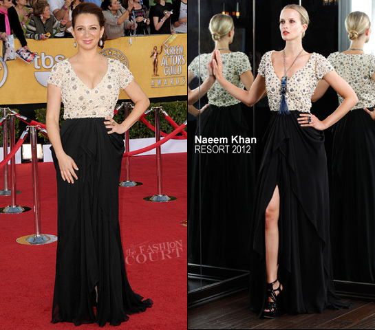 Maya Rudolph in Naeem Khan | 2012 Screen Actors Guild Awards